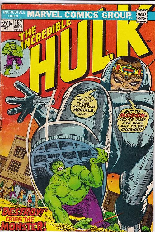 Incredible Hulk 167 Hulk Verses MODOK