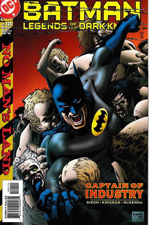 BATMAN LEGENDS OF THE DARK KNIGHT 124 DC Dec 99 No Man's Land