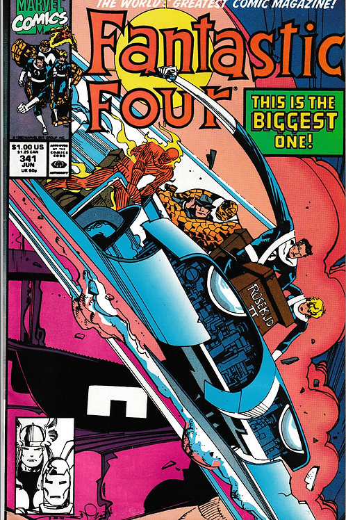 FANTASTIC FOUR 341 Jun 90 Thor Iron Man Galactus