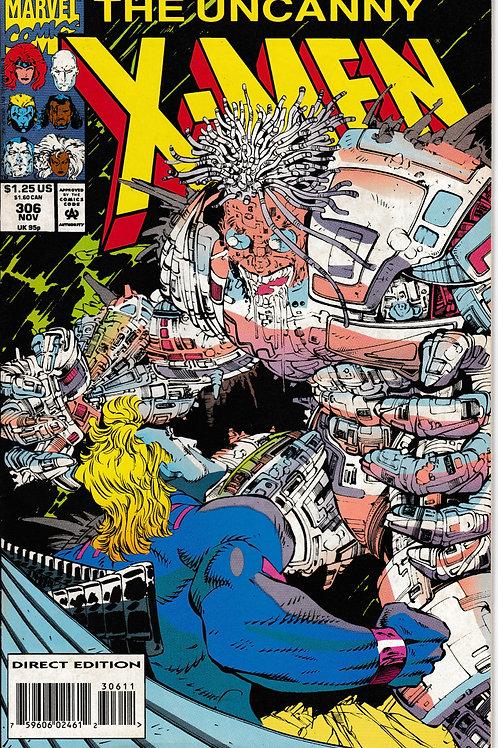 UNCANNY X-MEN 306 Nov 93 N/M Xavier Battles Quicksilver