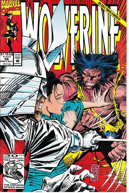 WOLVERINE 56 Vol 2 Jul 92 Marvel Guest-stars Gambit, Jubilee & Sunfire