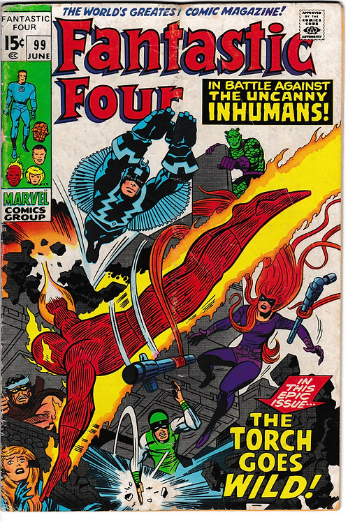 FANTASTIC FOUR 99 Jun 70  Marvel Vol 1 Black Bolt & Inhumans App