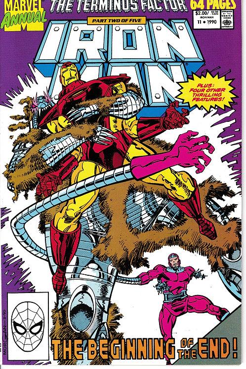 IRON MAN ANNUAL 11 1990  Guest Stars Machine Man