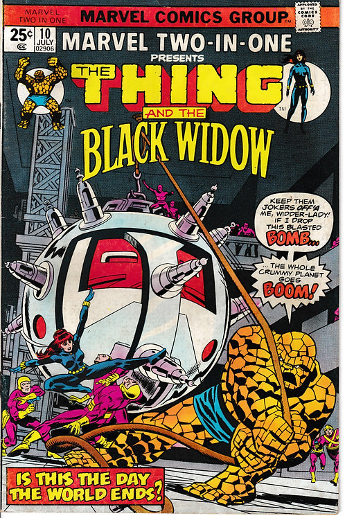 MARVEL TWO-IN-ONE 10 Jul 75 The Thing & The Black Widow