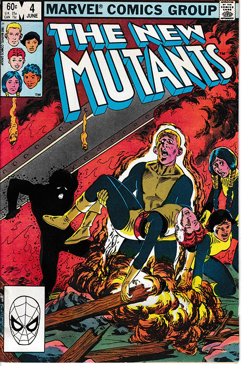 NEW MUTANTS 4 Marvel Jun 83 Chris Claremont Script