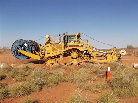 Cat D8T Fibre Plough