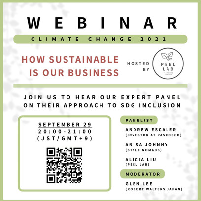 Join us for Our First Sustainability Webinar!