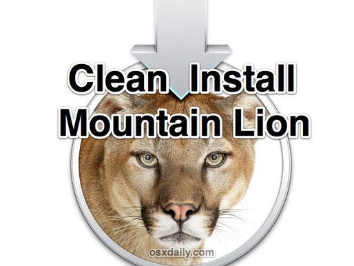 Clean install of OSX 10.8 Mountain Lion USB
