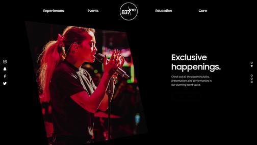 Samsung 837 Redesigned Website