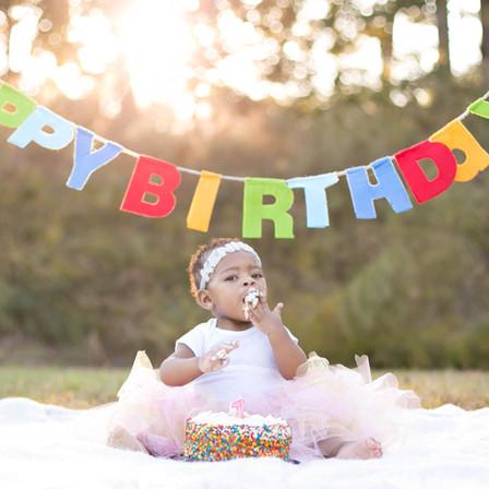 Kennedi 1st Birthday @ East Clayton Community Park @ Clayton, North Carolina