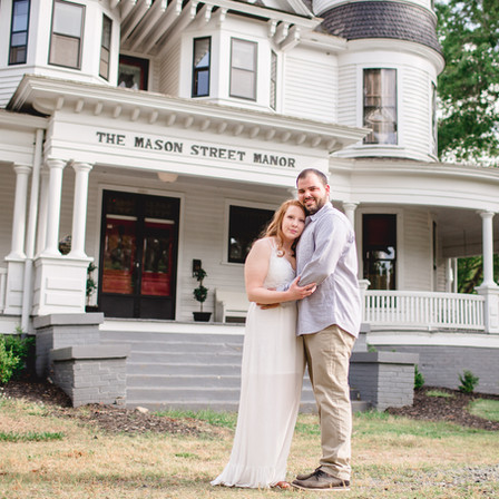 Cassidy + Jackson Engagement @ The Mason Street Manor + Downtown Franklinton, North Carolina