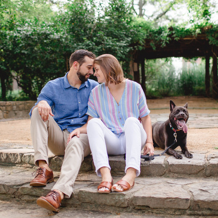 Casey + Will Engagement @ Coker Arboretum (UNC) - Chapel Hill, North Carolina