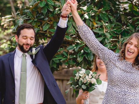 Casey + Will Backyard Wedding @ Durham, North Carolina