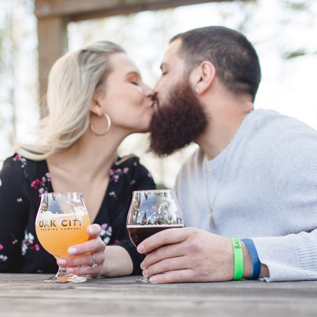Hannah + Kekoa @ Knightdale Station Park + Oak City Brewing Co.- Knightdale, North Carolina
