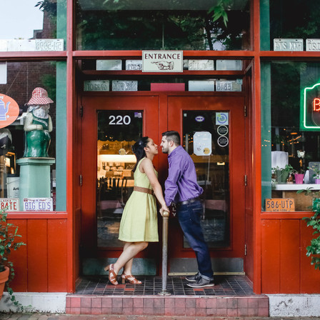 Robert + Simone Engagement @ City Market - Downtown Raleigh, North Carolina