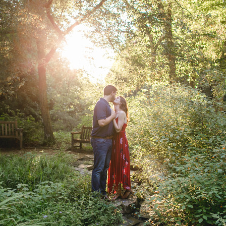 Laura + Leander Engagement @ Coker Arboretum (UNC) - Chapel Hill, North Carolina
