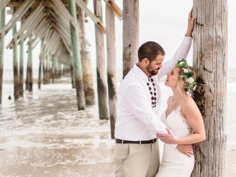 Hannah + Kekoa Wedding @ North Topsail Beach, North Carolina