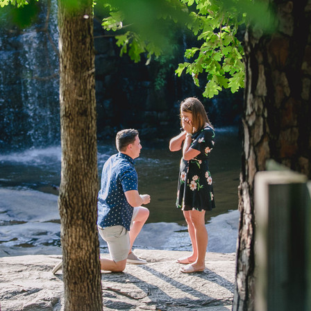 Laura + Connor Proposal/Engagement @ Yates Mill Historic Park - Raleigh, North Carolina