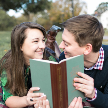 Sarah + Dustin Engagement @ Historic Oak View Park - Raleigh, NC