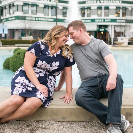 Derek + Jessica Engagement @ Easton Towne Center - Columbus, Ohio