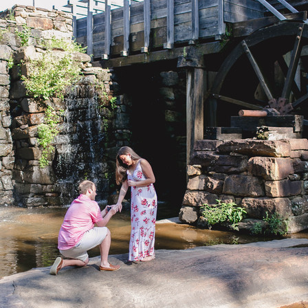 Kurt + Camila Proposal/Engagement @ Yates Mill Historic Park - Raleigh, North Carolina