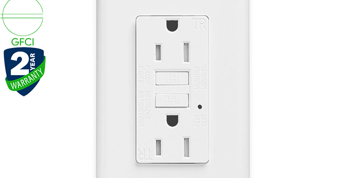 KG-15T 15A GFCI wall outlet/socket