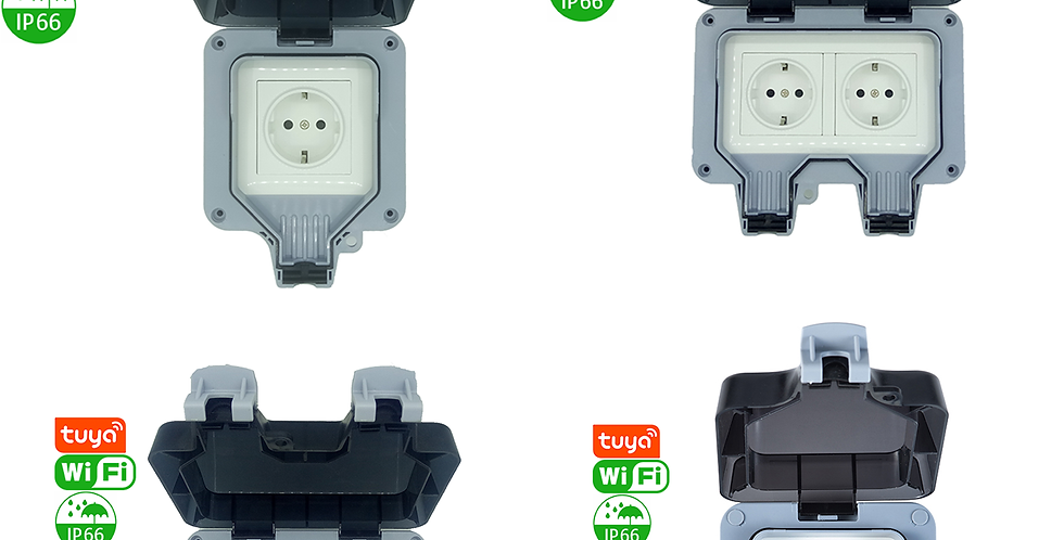 AF66 series IP66 outdoor waterproof Tuya Wi-Fi socket