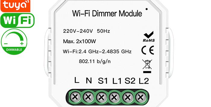 QS-WIFI-D02-2C 2gang Tuya Wi-Fi dimmer module