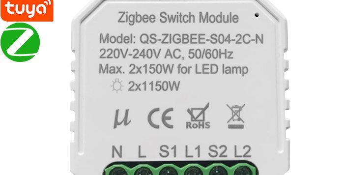 QS-ZIGBEE-S04-2C-N/L 2 Channels Tuya Zigbee Switch Module