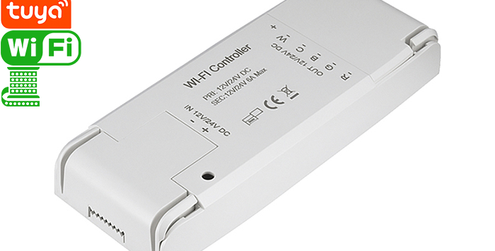 QS-WIFI-RGBCW Tuya Wi-Fi smart LED controller