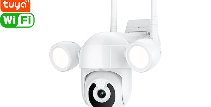 C002 Tuya Smart Wi-Fi Floodlight Camera