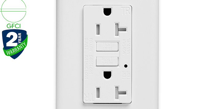 KG-20T 20A GFCI Wall Outlet/Socket