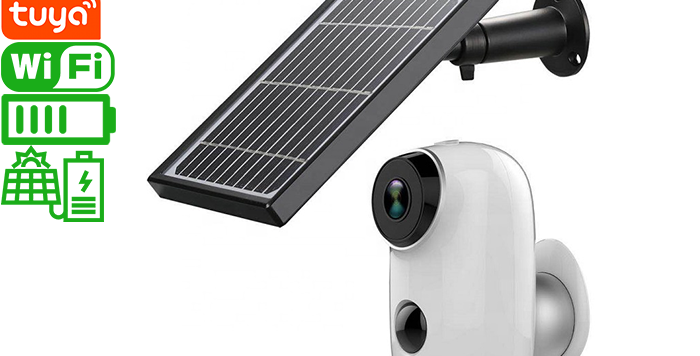A3 pro Tuya Wi-Fi battery powered smart camera with solar panel
