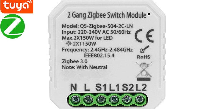 QS-Zigbee-S04-2C-LN Zigbee Switch Module