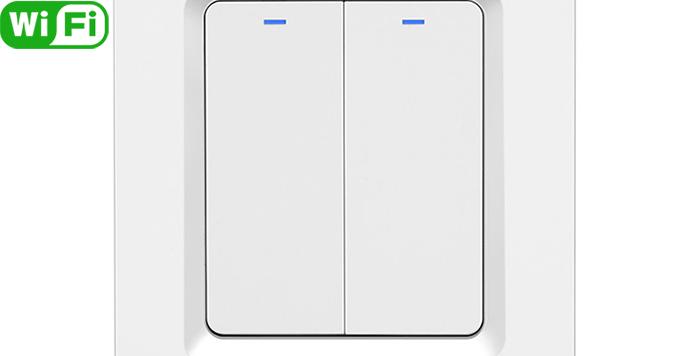 DS-102-2 2gang EU standard tuya Wi-Fi smart switch