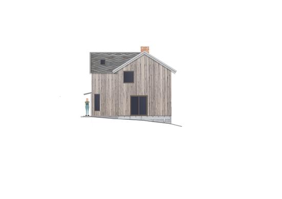 Tilbygg til trønderlån på Stadsbygd, fasade vest