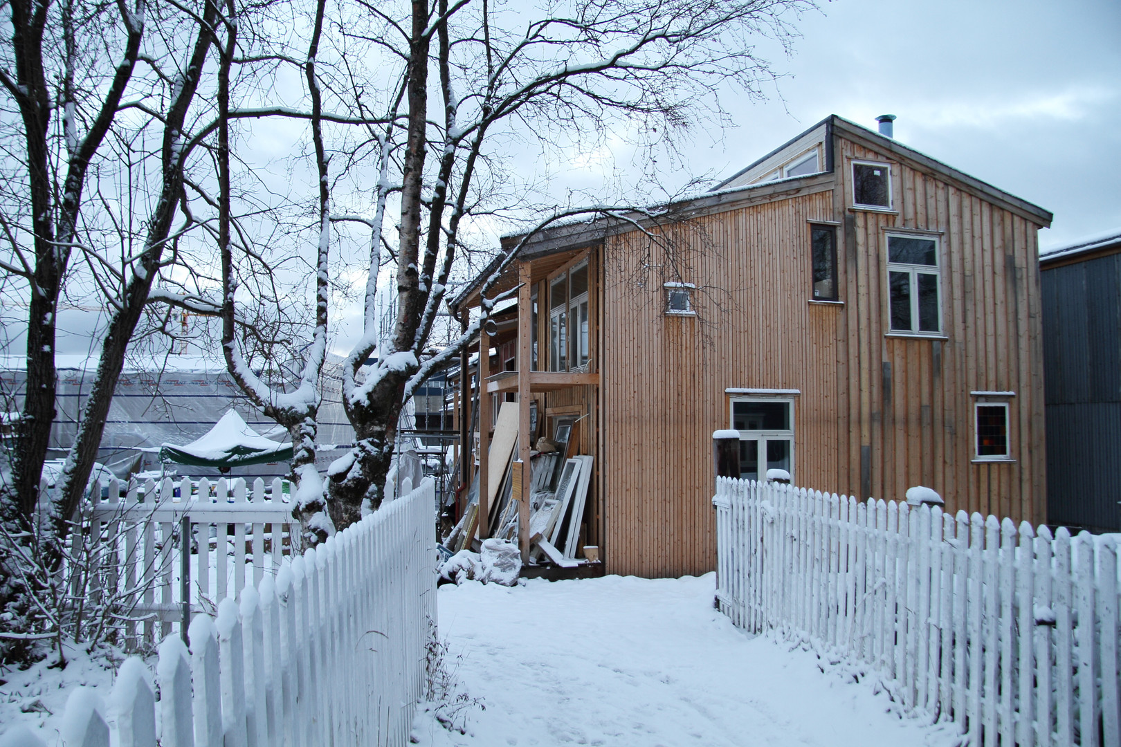 Guro og Johns hus, vinter