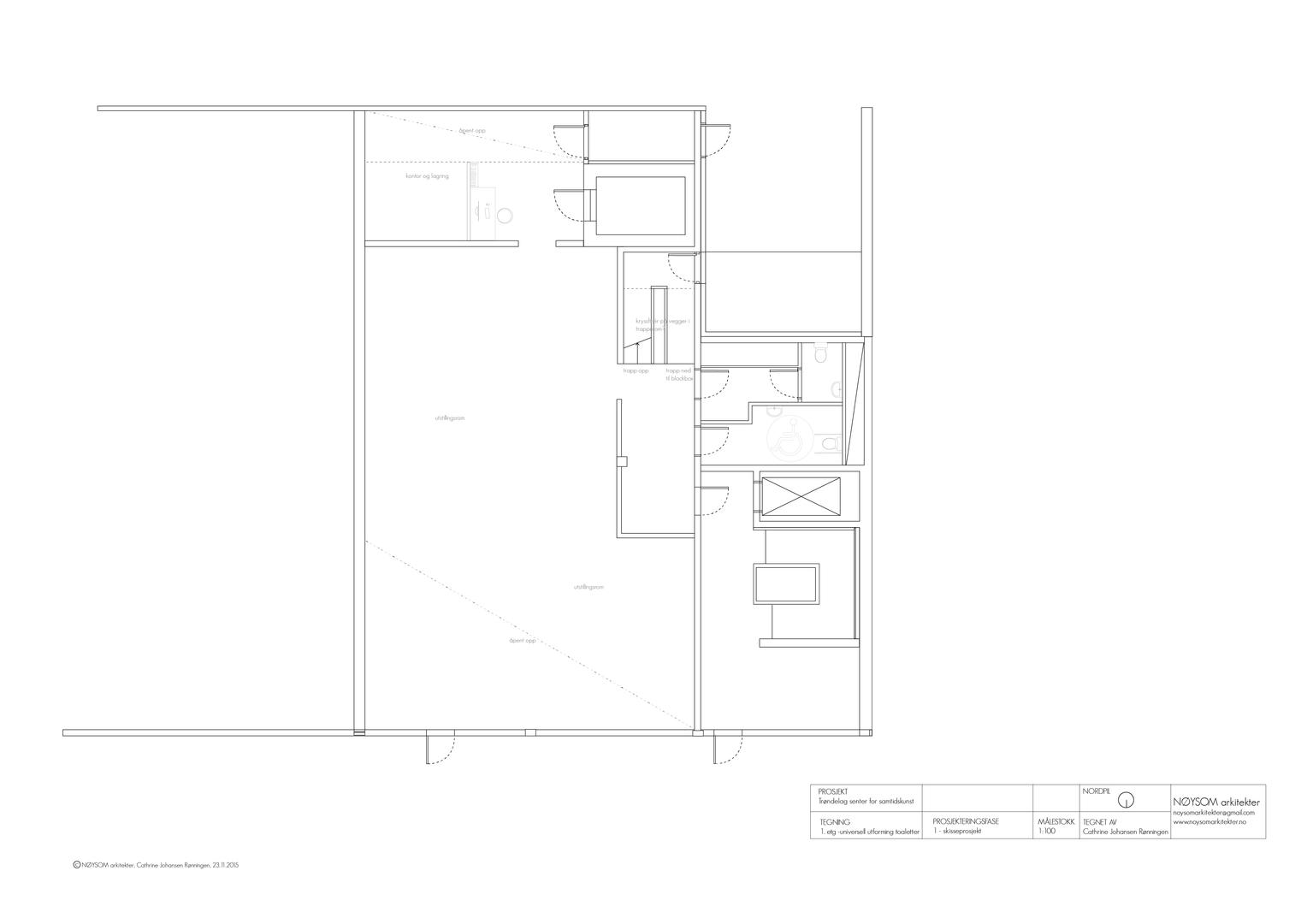 TSSK ombygging, plan første etasje