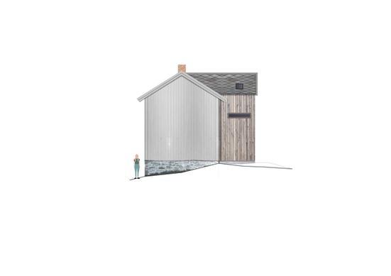 Tilbygg til trønderlån på Stadsbygd, fasade øst