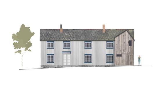 Tilbygg til trønderlån på Stadsbygd, fasade nord