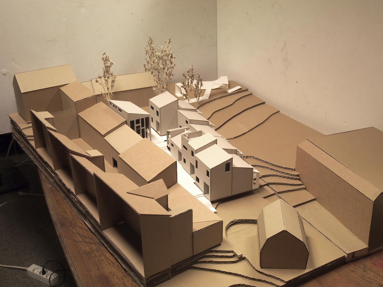 Modell, forprosjekt (eksperimentboligene).JPG
