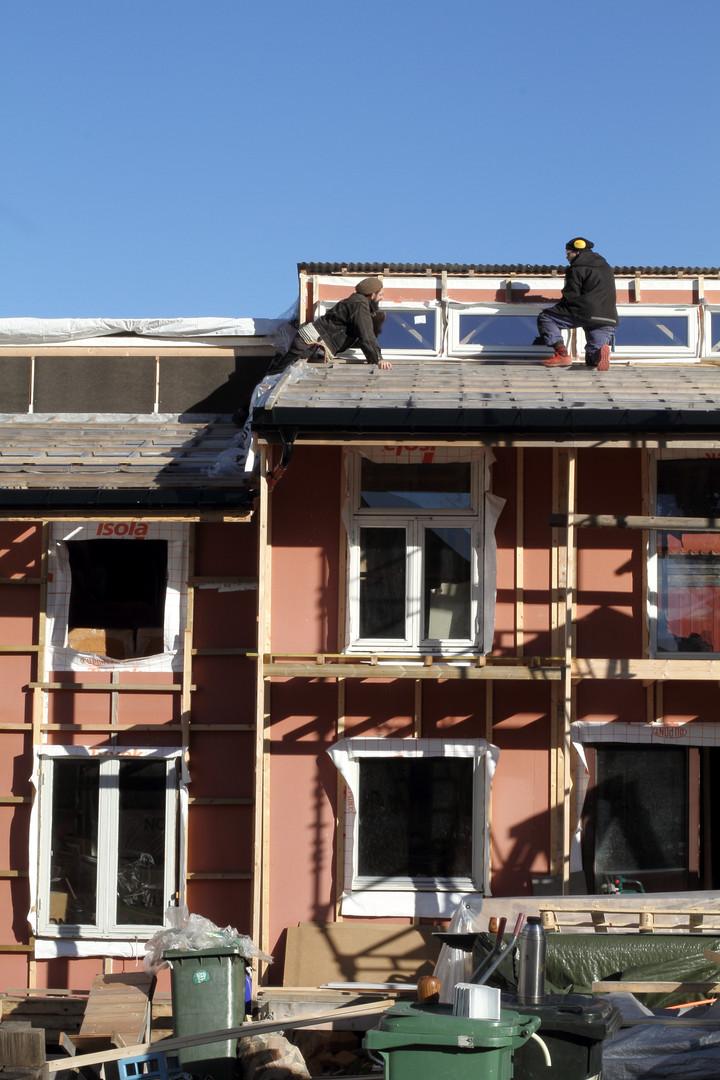 Markus og Per Kristian på taket