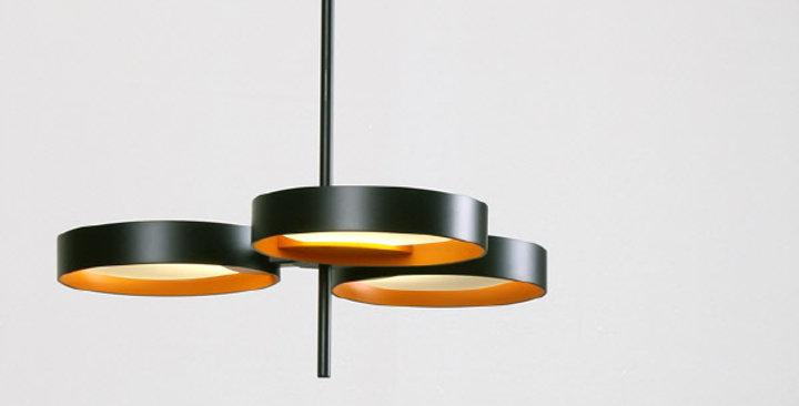 LED 퓨처 3등 펜던트 36W (블랙/화이트)