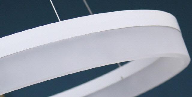 LED 화이트링 펜던트 36W (600파이)