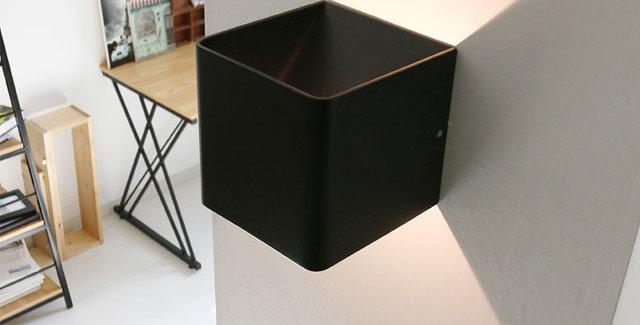 LED 사각 캐스팅 벽등 대 5W (블랙)