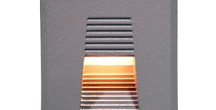 4301 LED 사각 계단매입 3W (회색)