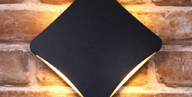 LED 3073 외부벽등 12W(블랙)