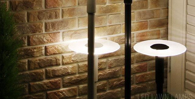 LED 1004 아크릴 카페 잔디1등 5W 블랙/화이트 (소:H44cm / 대:H90cm)