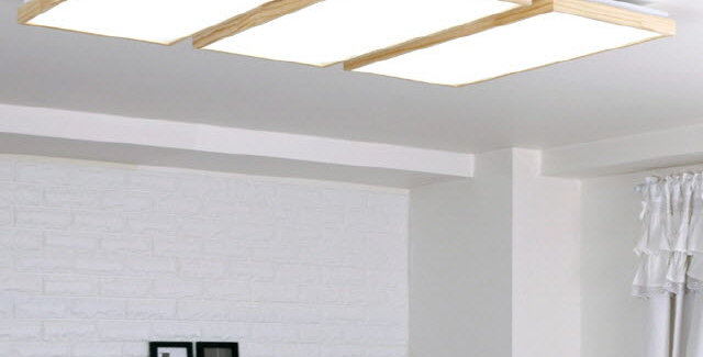 LED 로뎅 직사각 거실등 150W (원목)
