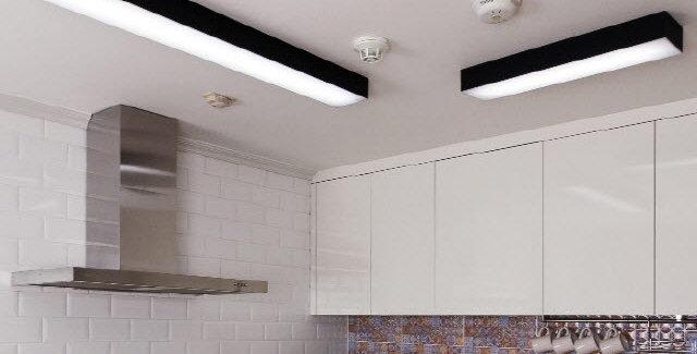 LED 크림[블랙] 주방/욕실등 25W/50W